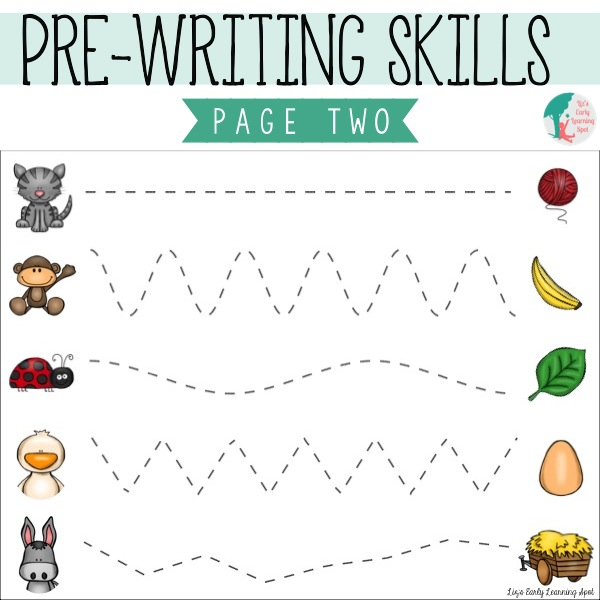 Essential Pre-Writing Skills: I Can Trace Lines - Lizu0026#39;s ...