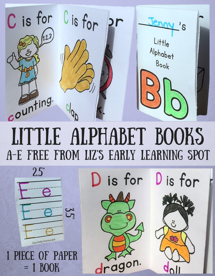Hilaire image with printable alphabet book