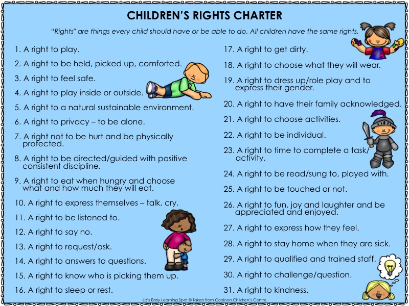 What Are The Rights Of A Child 5 on Reading And Writing Numbers