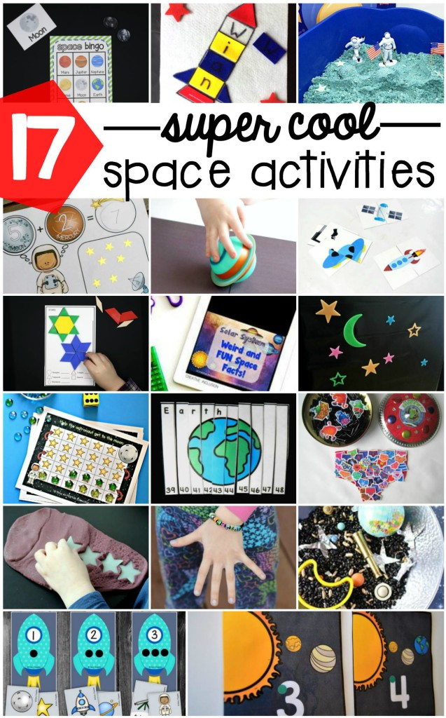 Find lots of super space activities here including lots of hands-on fun plus free printables!