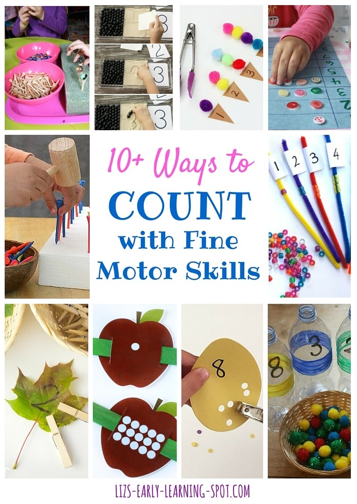 10 Ways To Count With Fine Motor Skills