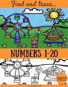 Find and Trace Numbers 1-20