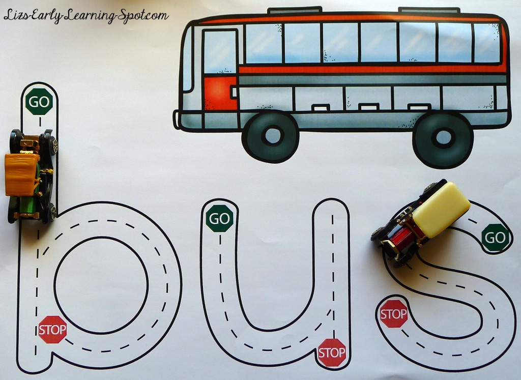 Cvc Transport Mats For Play Dough And Driving Liz S