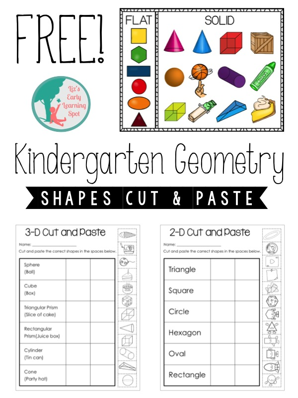 Kindergarten Geometry: 2D and 3D Shapes - Lizu0026#39;s Early Learning Spot