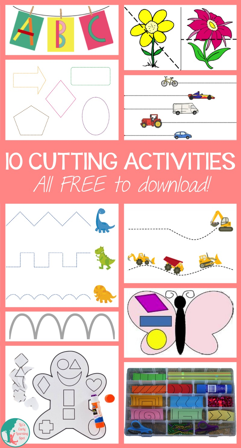 10 Cutting Activities for Kids - Liz's Early Learning Spot
