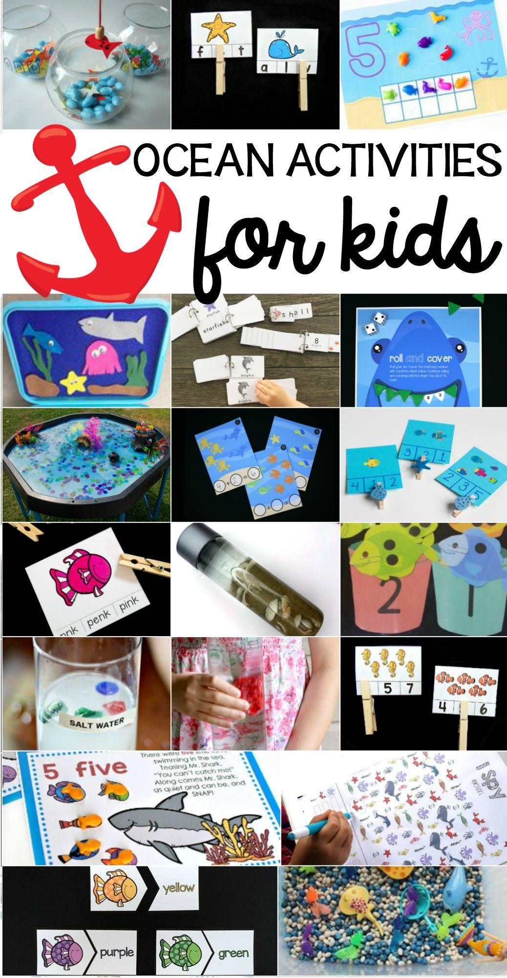ocean activities kids - Ocean Worksheets For Kindergarten