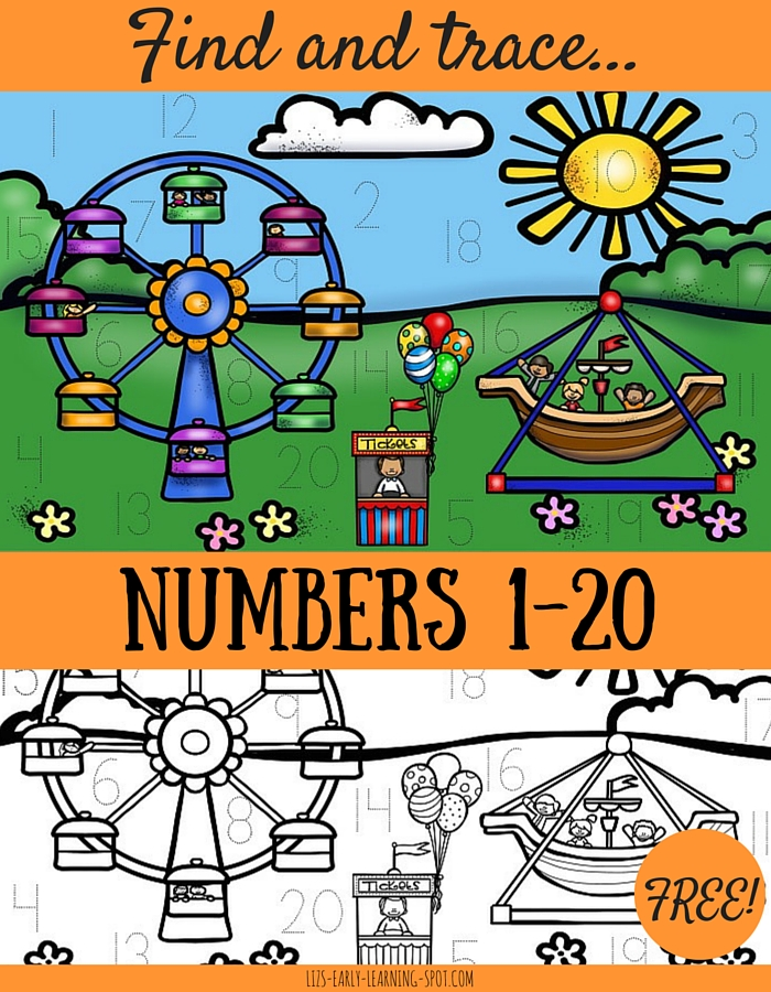 Find and Trace Numbers 1-20 | Liz\'s Early Learning Spot
