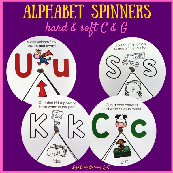 Free Printable Alphabet Spinners