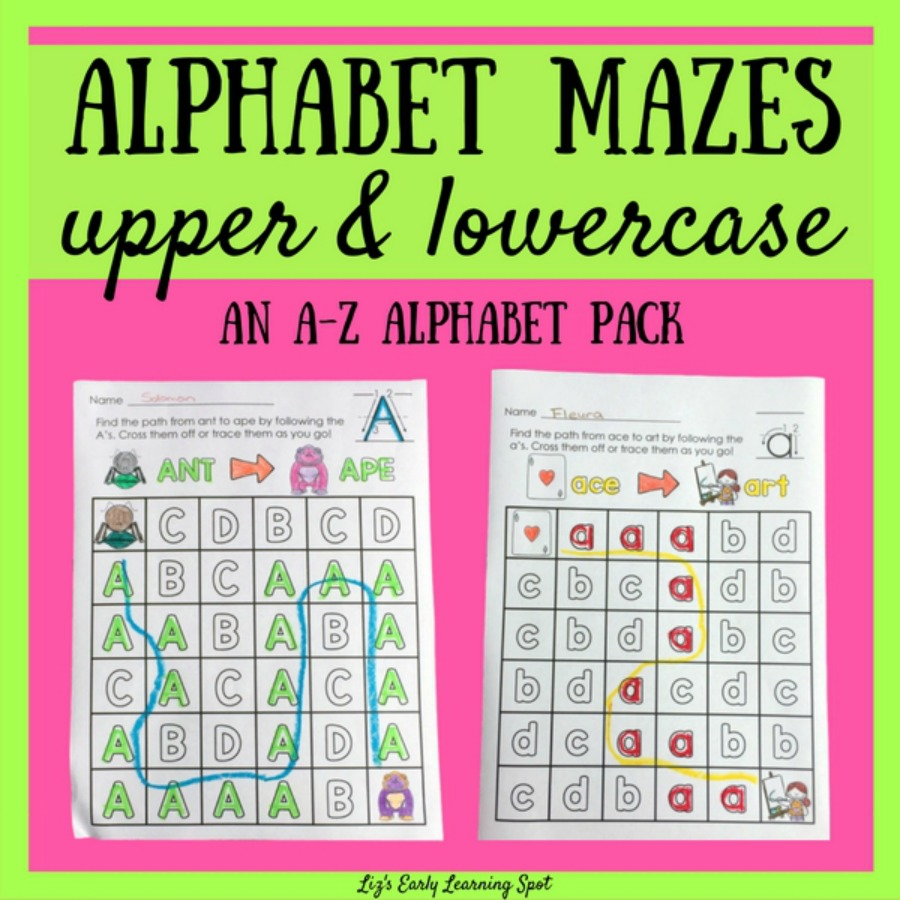 Alphabet Mazes: Uppercase and Lowercase Letters | Liz's Early ...