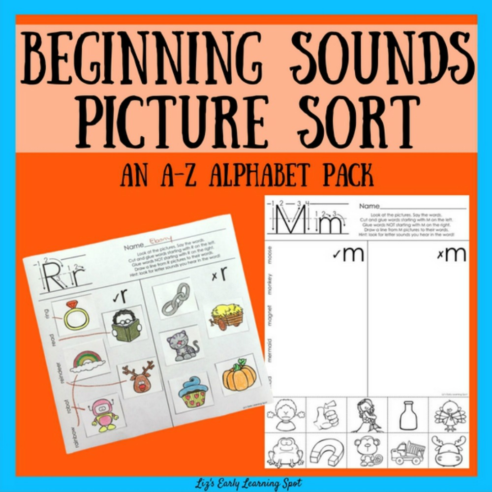 The Alphabet: Beginning Sounds Picture Sorts : Lizu0026#39;s Early ...