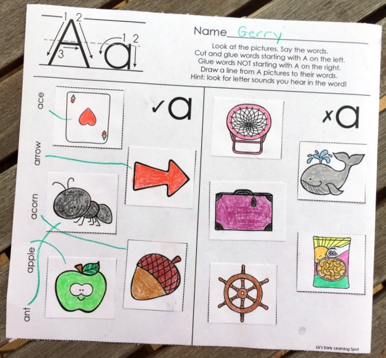 four letter words starting with p the alphabet beginning sounds picture sorts liz 39 s early 21816 | beginning sounds picture sorts