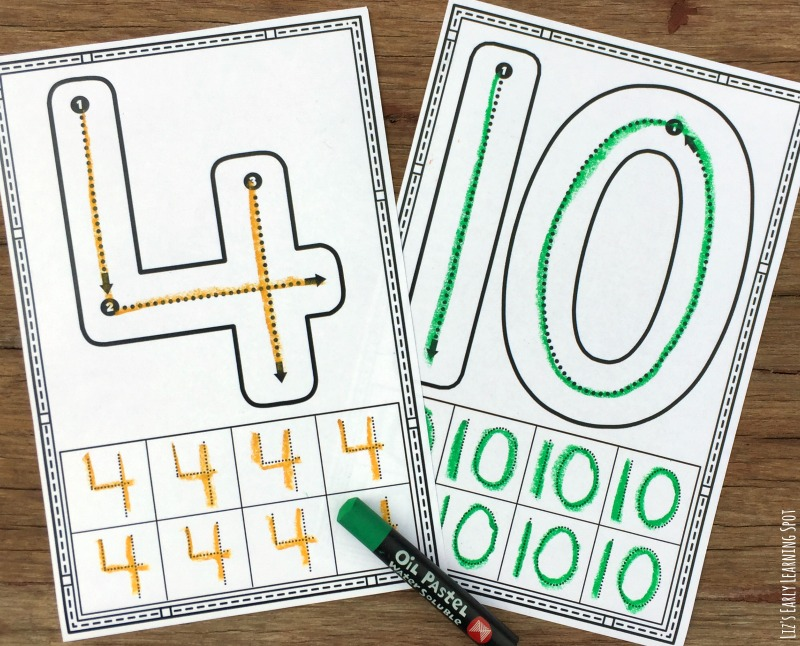 1 10 Number Formation Cards Liz S Early Learning Spot