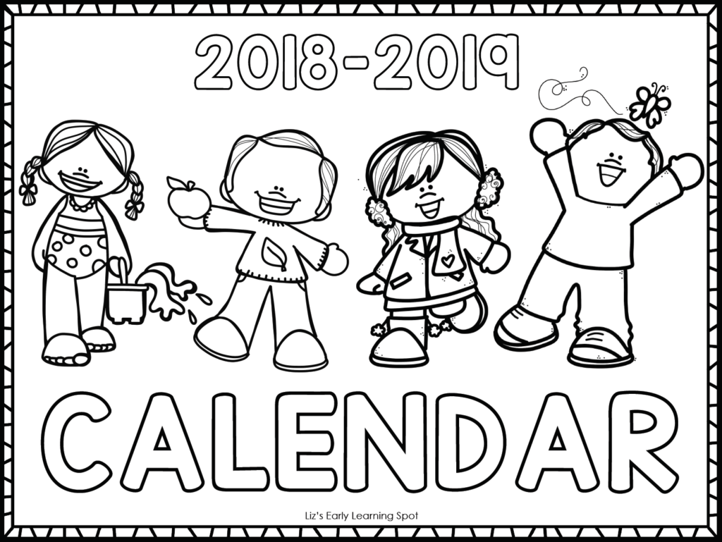 Calendar Pictures For Kids : Free  monthly calendars for kids liz s early
